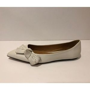 Isabel Marant New Bow Pointy Toe Leather Flat
